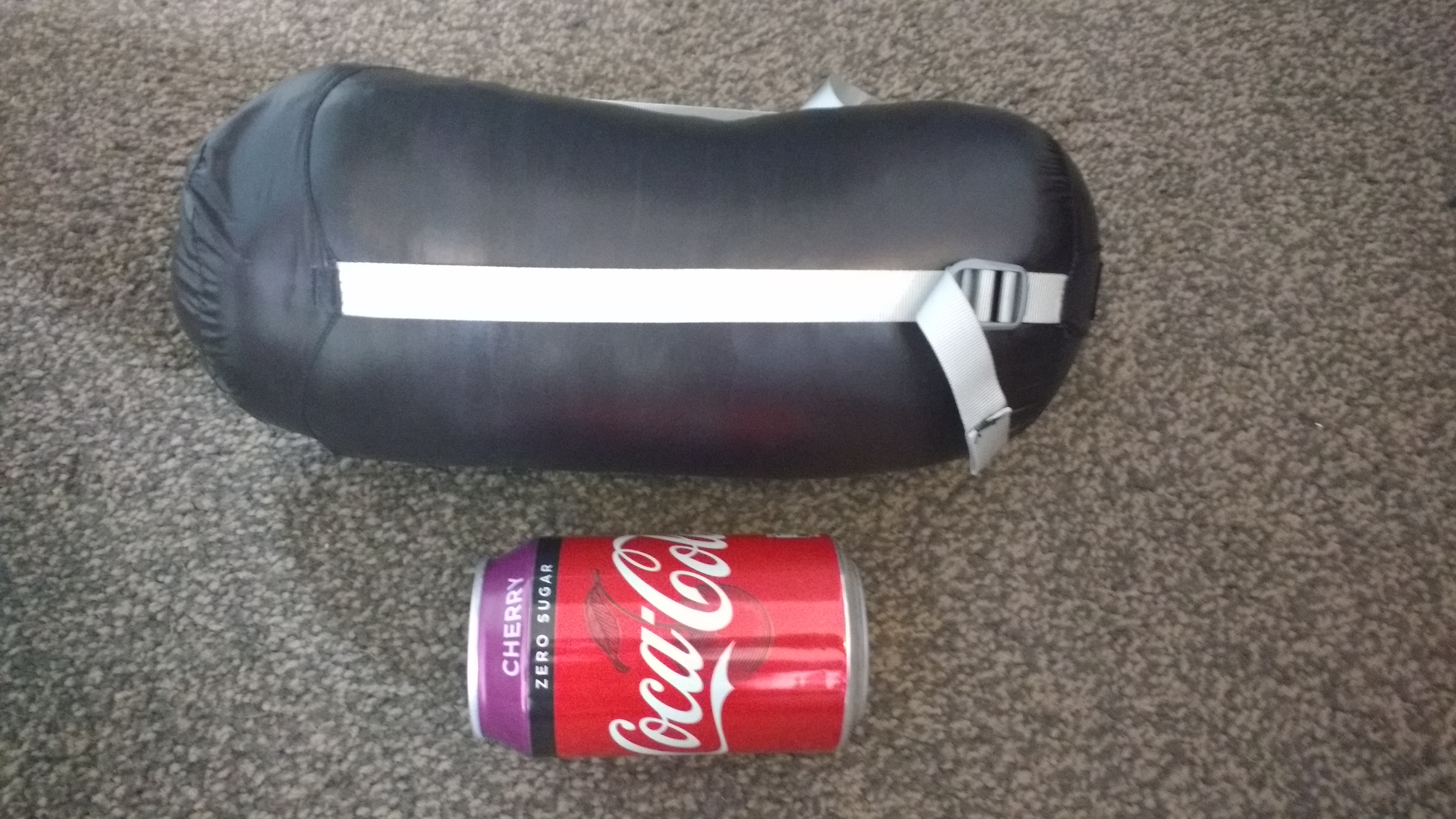 The Aegismax Sleeping Bag Compared To A Coke Can