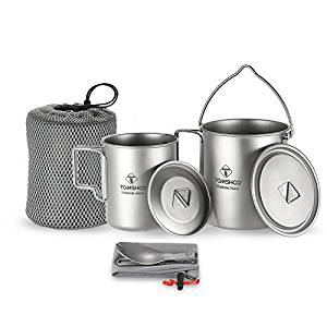 Ultralight backpacking cookware