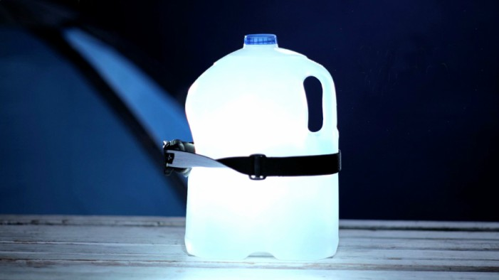 Camping hacks #5: Water bottle and head torch lantern
