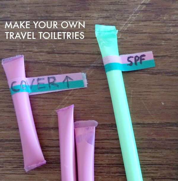 Camping hacks #10: Plastic straw toothpaste containers