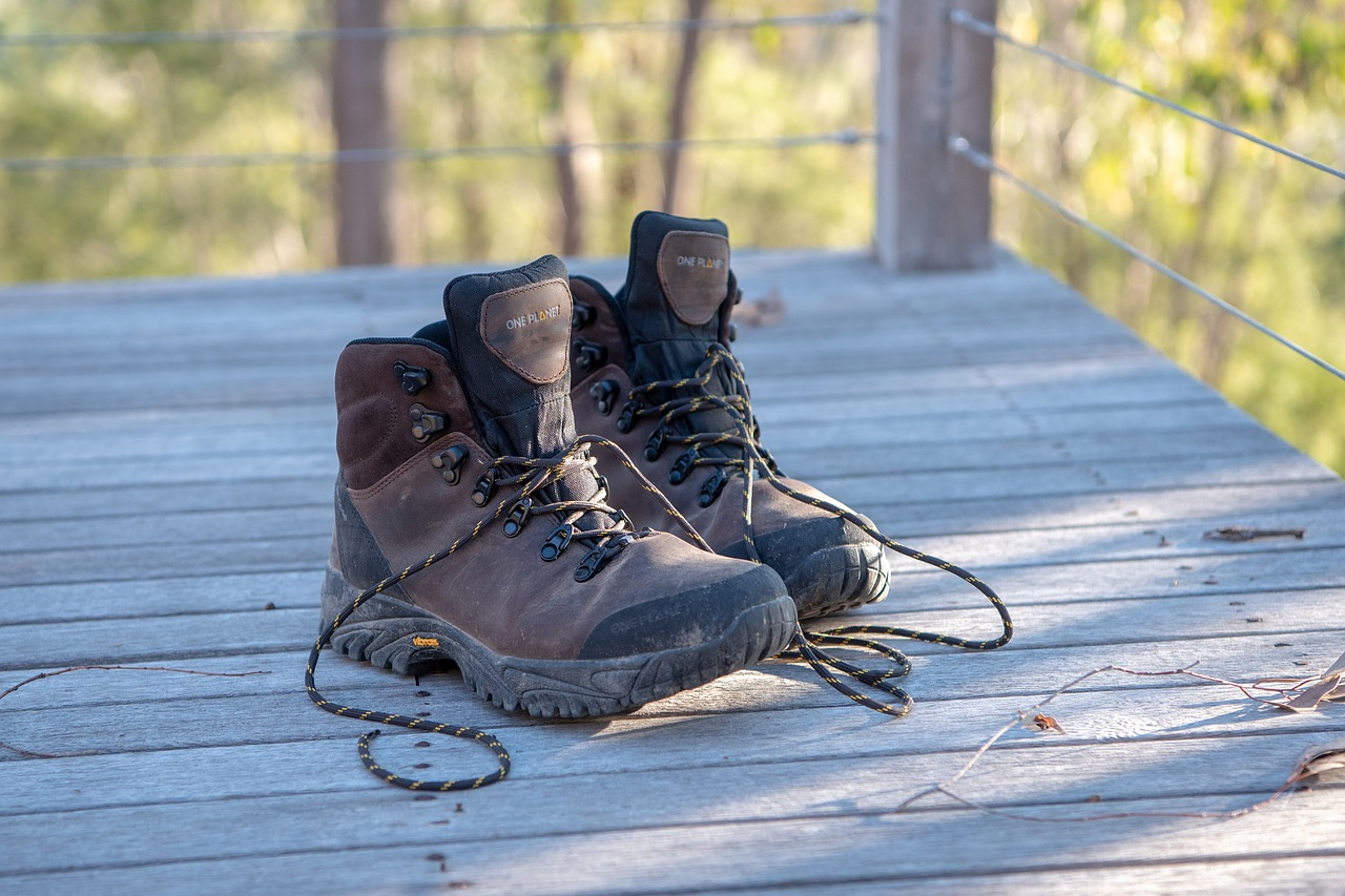 Next on your camping checklist should be clothes. Don't forget a good pair of walking boots!