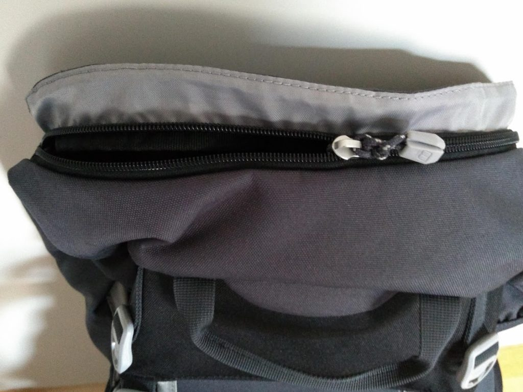 The top pocket on the Berghaus Trailhead 65