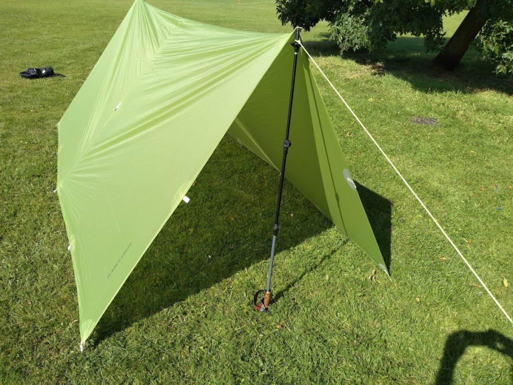 Tarp shelter configuration: A-Frame