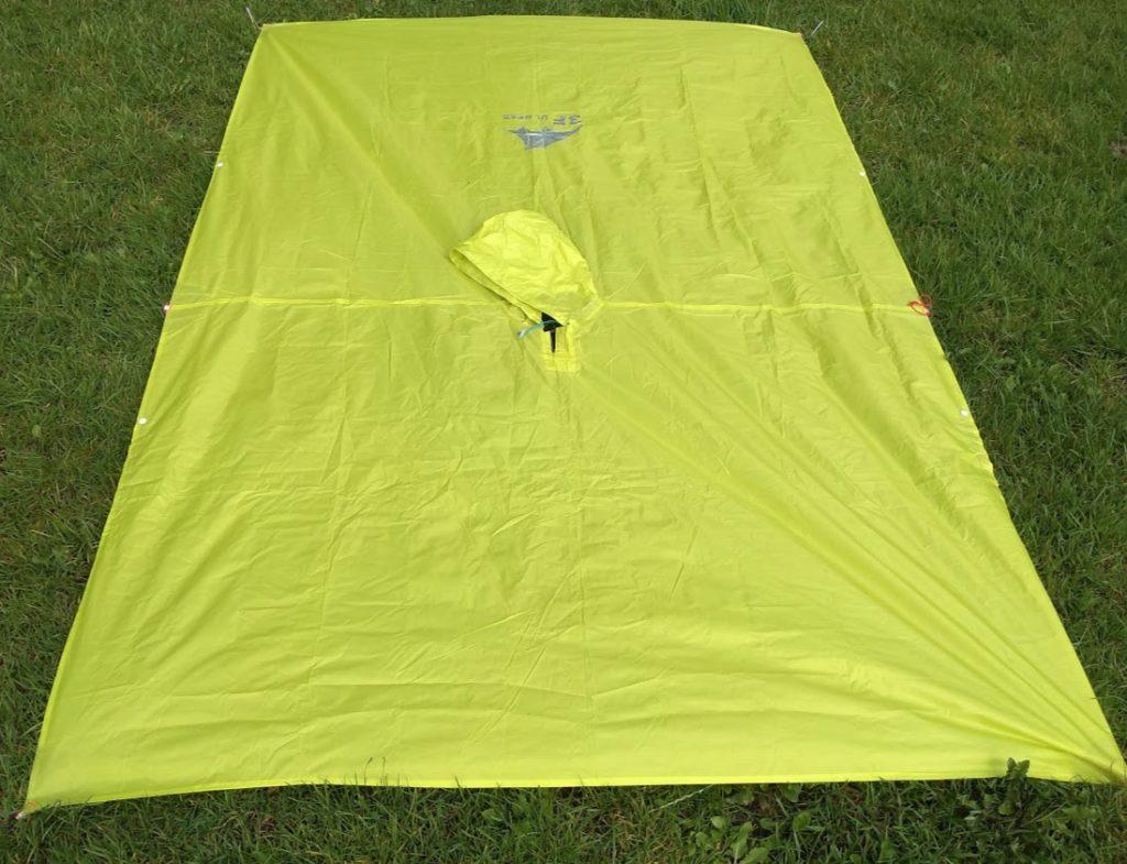 3f ul gear tarp poncho laid flat