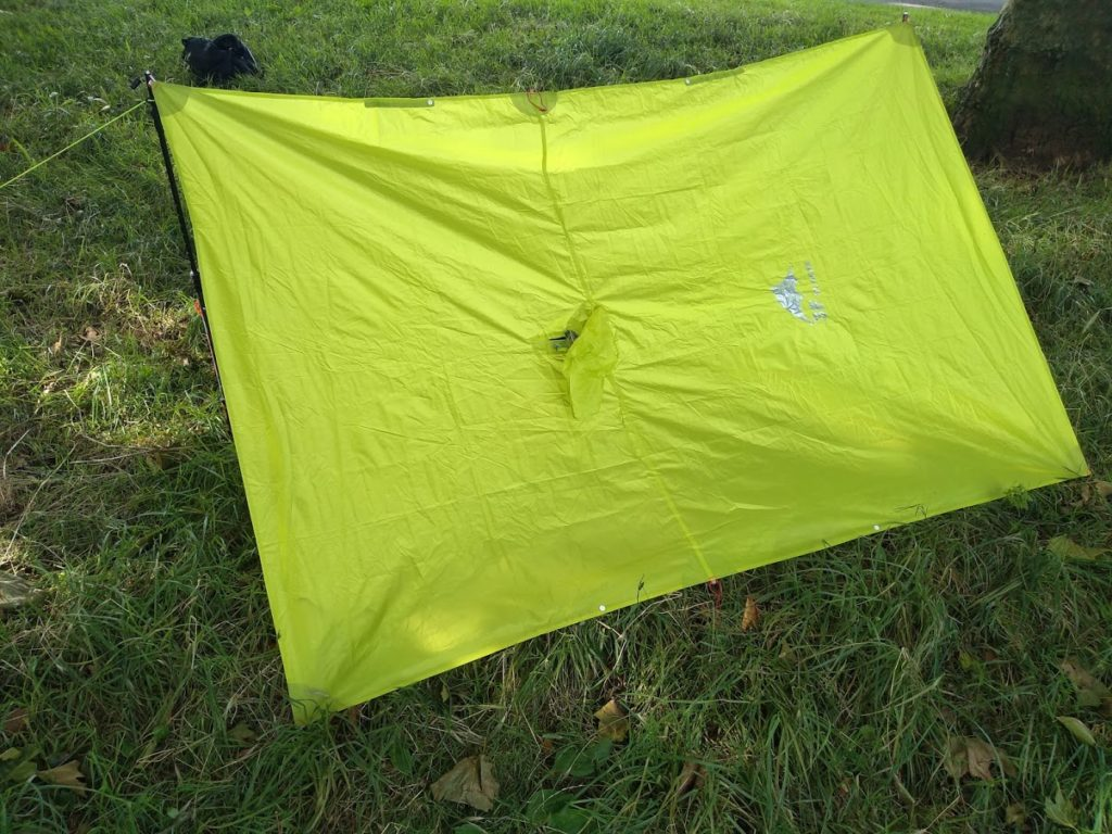 The 3F UL Gear Tarp Poncho from the back
