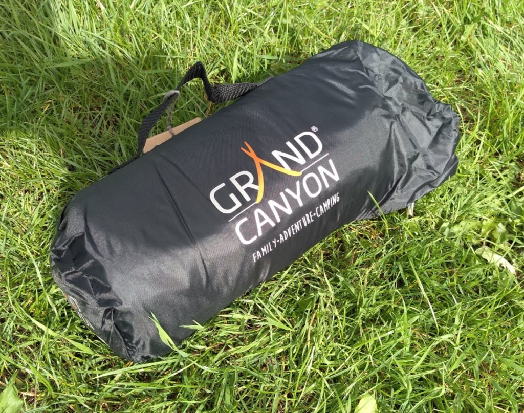 The Grand Canyon Richmond 1, packed into its stuff sack