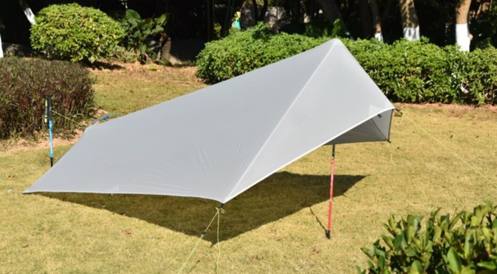Aricxi tarp tent, pitched